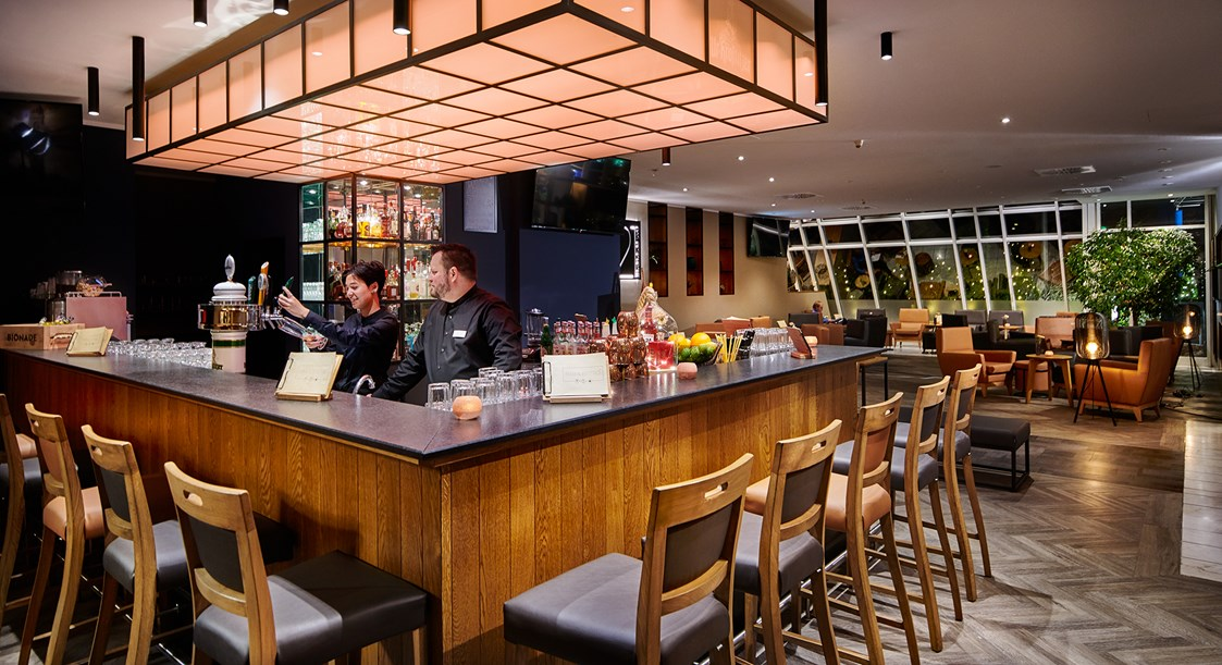 Urlaub-mit-Hund: Hotelbar - Atlanta Hotel International Leipzig